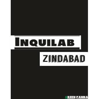 inquilab zindabad poster india