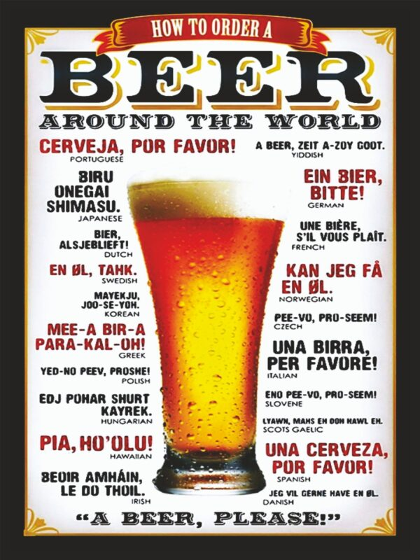 How to order a Beer-Around the world