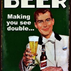 Beer-making you see double, and feel single