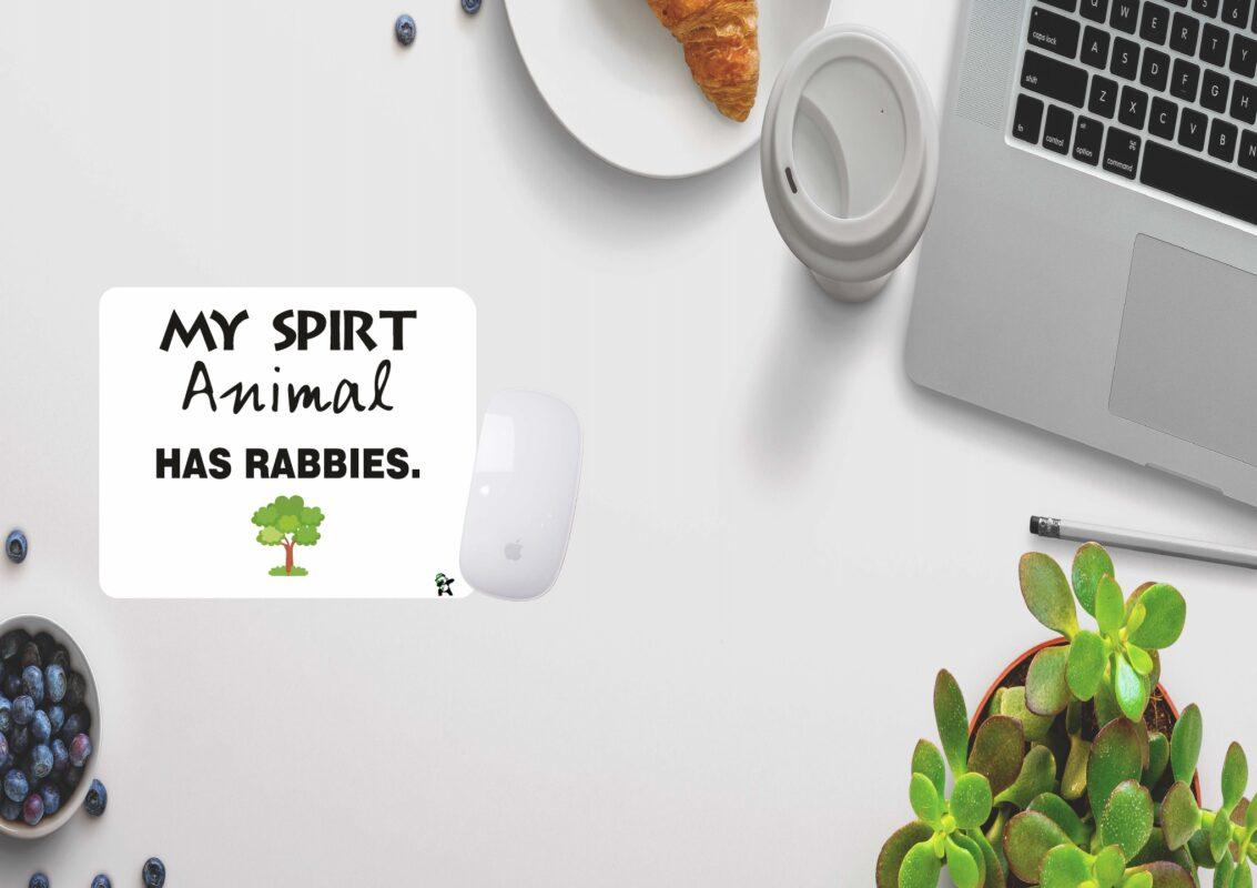 My spirit animal has rabbies