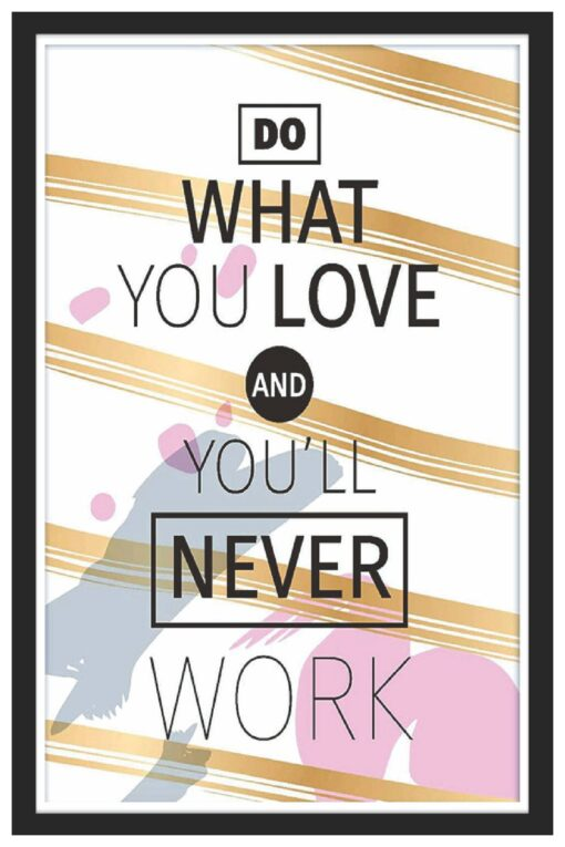 Do What You Love-Never Work