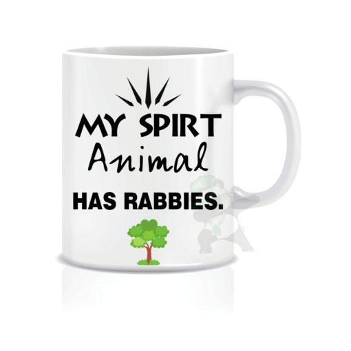 My spirit animal has Rabbies.