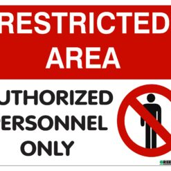 Restricted area sign board online best buy india