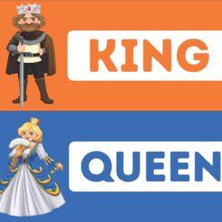 King Queen Washroom Sign Board