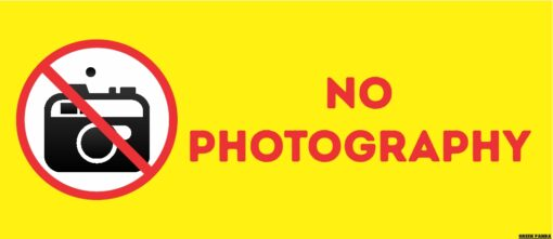 No Photography Sign Board