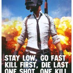 green panda pubg gaming posters online india0004